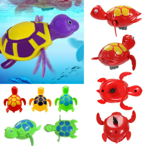 1PC Baby Bath Pool Swimming Chain Turtle Animal Toy Winding Wind-up For Kids