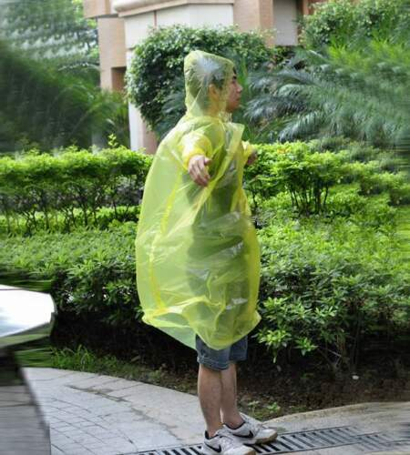1//2//10Pcs Disposable Emergency Rain coat Raincoat Poncho for Camping HikingWCH