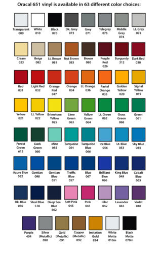 "24/"" X 10ft Oracal 651 Sign Cutting Vinyl Bundle 3 Rolls *63 Color Choices*"