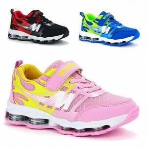 34d571edfc65a Das Bild wird geladen Jungen-Sportschuhe-Maedchenschuhe-Kinder-Sneaker- Turnschuhe-Atmungsaktiv-Schuhe