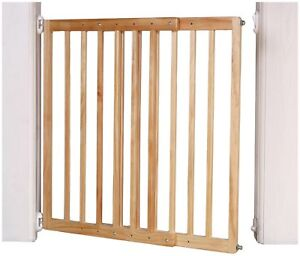 Details About Wooden Extendible Stair Gate Wall Gate Safety Stairs Double Lock Baby Pet Dog