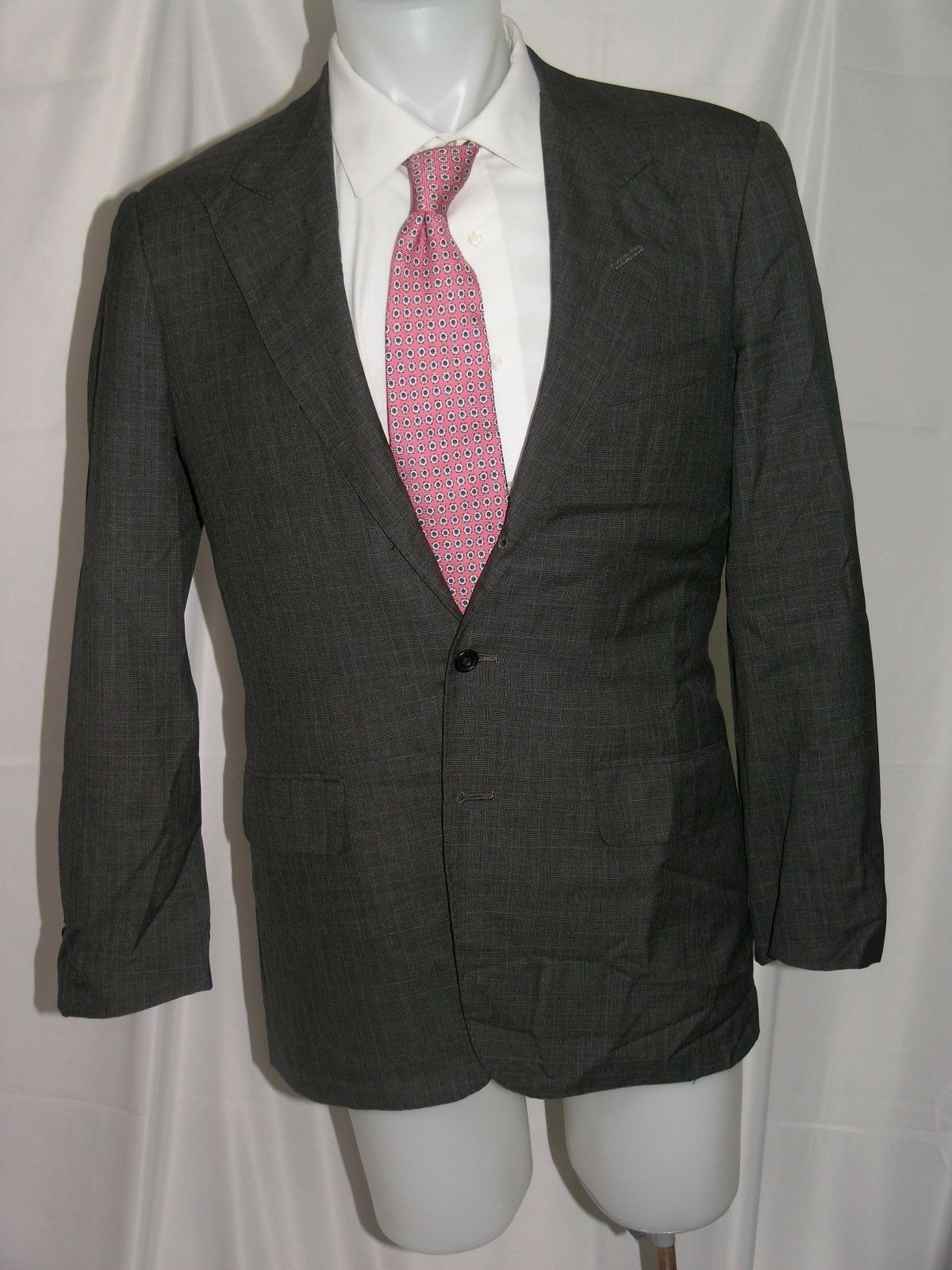 Edgar Pomeroy Bespoke Three-Roll-Two Blazer 40 L