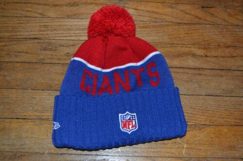NFL NEW YORK GIANTS Football Officially Licensed Winter Hat Pom Pom Hat YOUTH