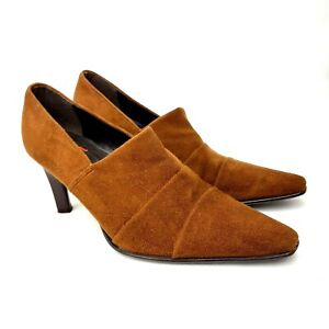 Hogl-Heels-Brown-Suede-Leather-UK-5-5-Boot-Style-Pointed-Toe