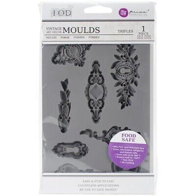 5x8 Trifles Prima Vintage Art Decor Mould Iron Orchid Designs