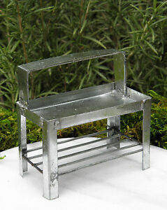 Magnificent Details About Miniature Dollhouse Fairy Garden Furniture Tin Potting Bench Table New Ncnpc Chair Design For Home Ncnpcorg