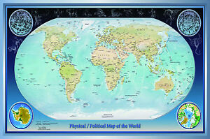 Laminated world map small 15x225 inches vintage atlas image is loading laminated world map small 15x22 5 inches vintage gumiabroncs Image collections