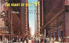 "1963 ""The Heart of Big D"" Street Scene, Dallas, Texas Postcard"