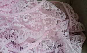 65mm-2-5-034-Pretty-Pink-Nottingham-Frilled-Gathered-Lace-FREE-1ST-CLASS-POSTAGE
