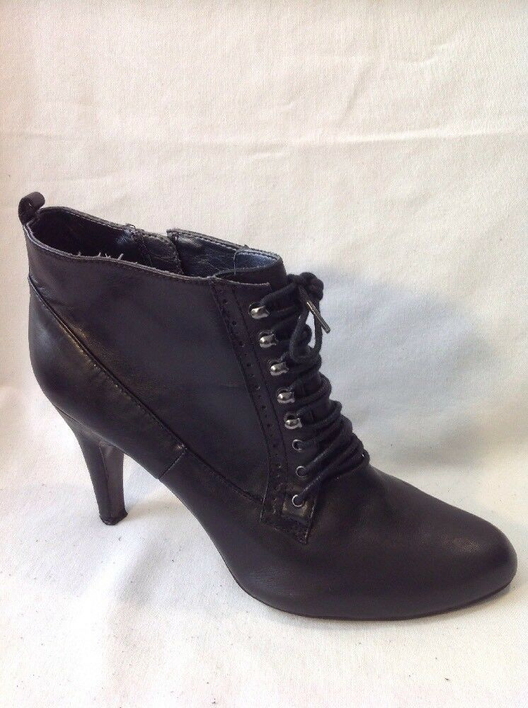 Emilio LucaX Black Ankle Leather Boots Size 7