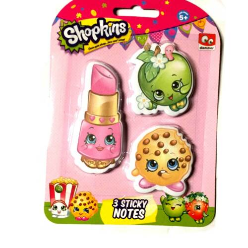 Shopkins Pencil Colour Pen Backpack Notes Girls Stocking Filler Gift Party  Bag 3 Sticky Notes