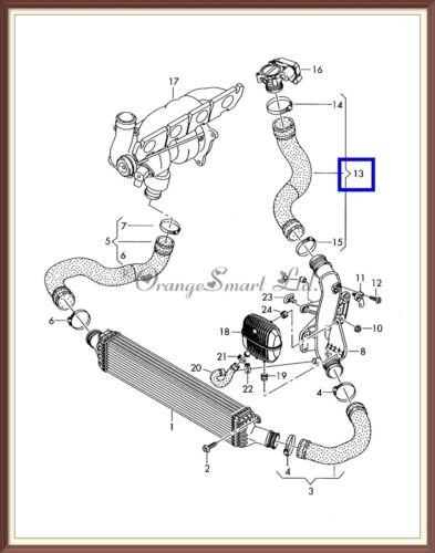 AUDI A4 A5 A6 Q5 2.0 TDI 2008-2013 TURBO INTERCOOLER PIPE HOSE AIR 8K0145737K