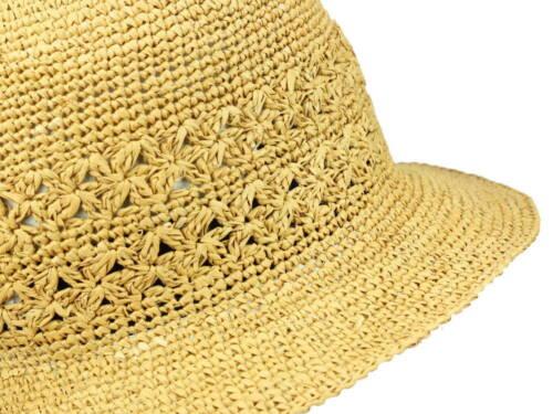 Mayser BirgitStrohhut Crochet Glockenhut Panamahut Original Neu