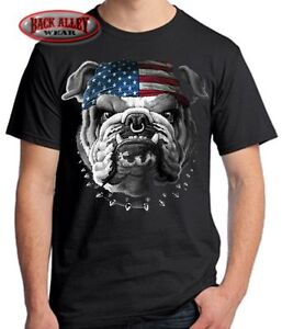 American bulldog t shirt m 5xl patriotic tee american T shirts for english bulldogs
