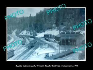 OLD-HISTORIC-PHOTO-OF-KEDDIE-CALIFORNIA-WESTERN-PACIFIC-RAIL-ROUNDHOUSE-c1930
