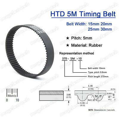 725-5M-15 HTD Timing Belt 725 mm Long 15mm wide /& 5mm Pitch