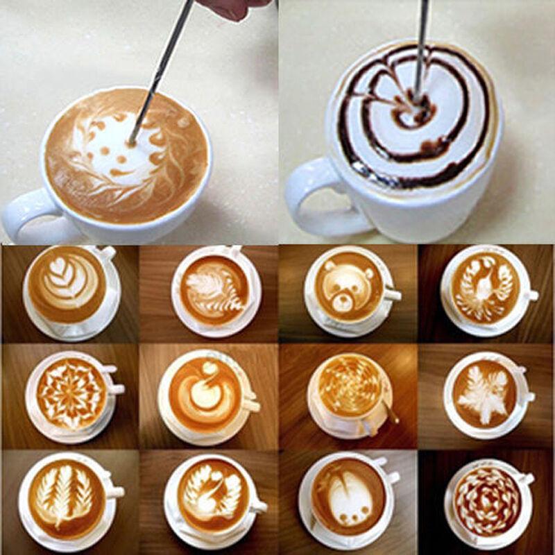 DIY Coffee Latte Art Pen Stainless Steel Espresso Machine Cafe Kitchen Pink