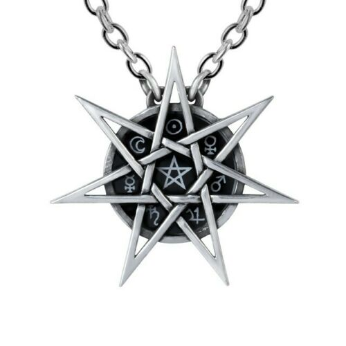 ALCHEMY ELVEN STAR PENDANT Wiccan Faerie Tradition Septagram FREE GIFT BOX