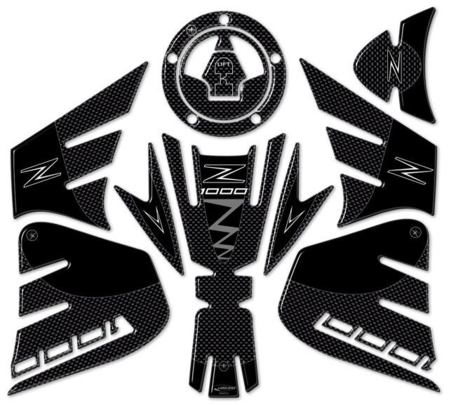 Aufkleber 3D Seitenschutz Kompatibel mit Kawasaki Z800