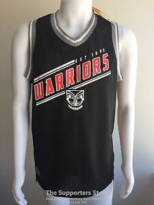 new style b9174 2be66 Details about New Zealand Warriors NRL Classic NBA Style Basketball Singlet  4XL! S7