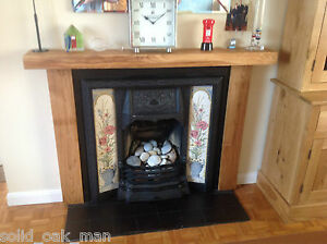 3 X 6 Wooden Rustic Solid Oak Fireplace Surround Bespoke Fireplace