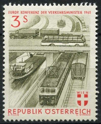 Strict Austria 1961 Sg#1364 Transport Ministers Meeting Mnh #a93522 Stamps