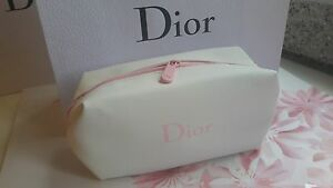 1011469e8ef9 Image is loading Dior-Makeup-Purse-Wallet-Bag-White-Pink-seam-