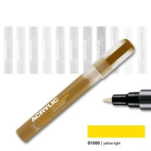 Acrylic-Marker-0-7-mm-S1000-yellow-light-Montana