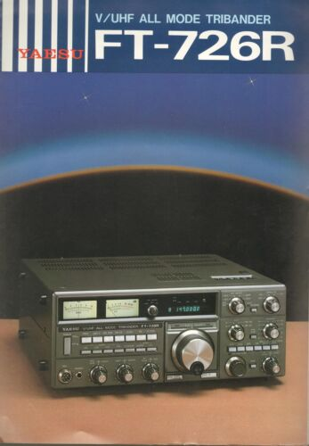 Yaesu V UHF All Mode Tribander FT-726R Original Sales Brochure