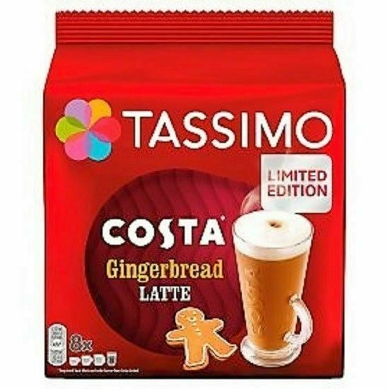 2 X Tassimo Costa Gingerbread Latte Coffee T Discs Pods 16 Drinks For Sale Online Ebay
