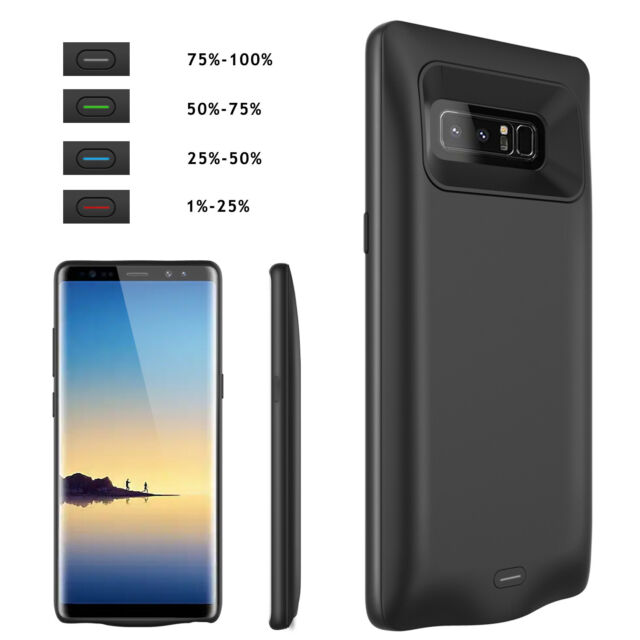 new arrival 866ff bad00 For Samsung Galaxy S10 S9 S8 Plus Note 9 Battery Charging Case Power Bank  Cover