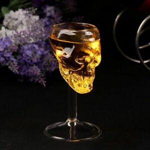 3D Skeleton Human Skull Head Clear Drinking Wineglass Goblet Party Bar Cup Gift