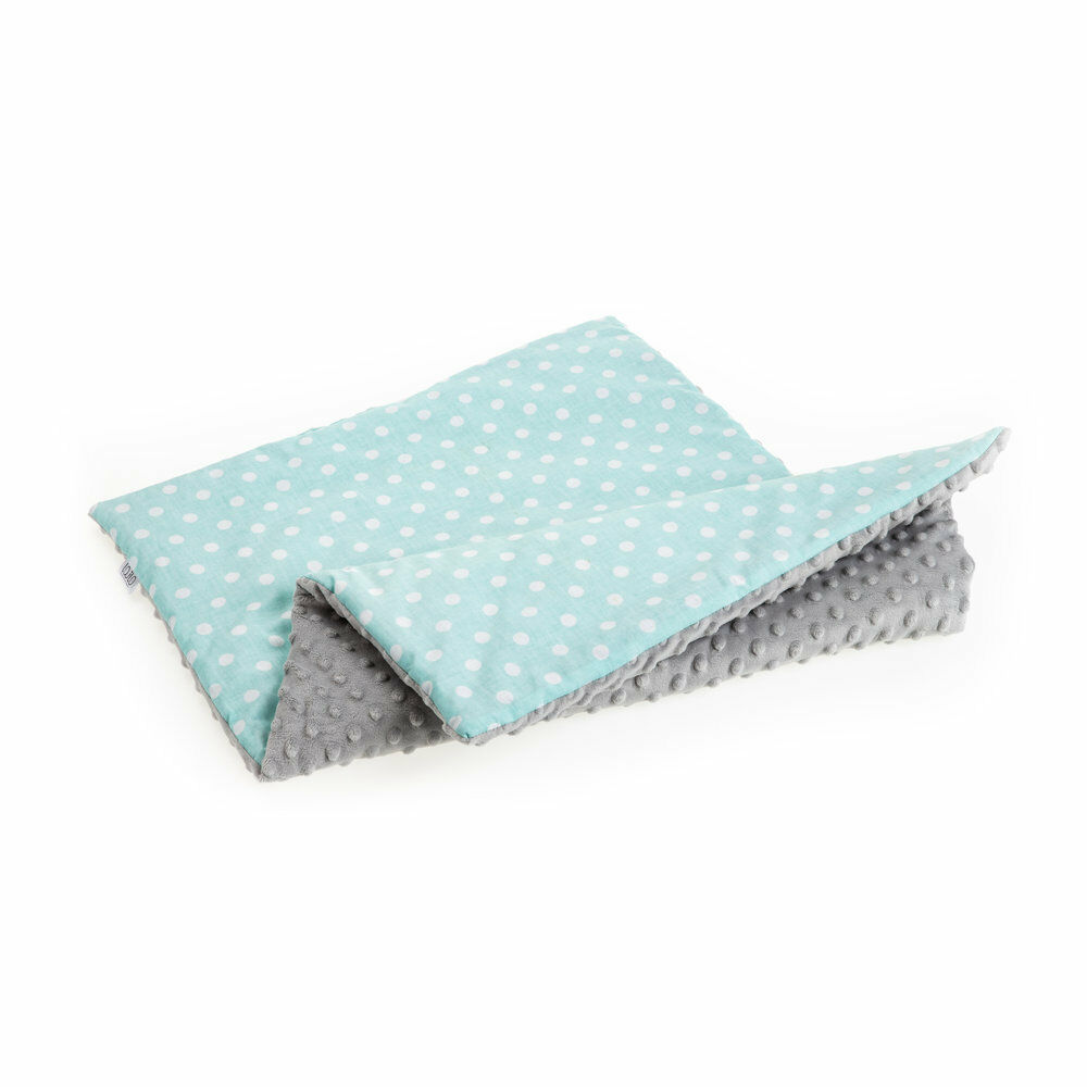 Baby Blanket Baby Soft Pillow Baby Nest 100/% Cotton Minky Mint Dotty Set Newborn