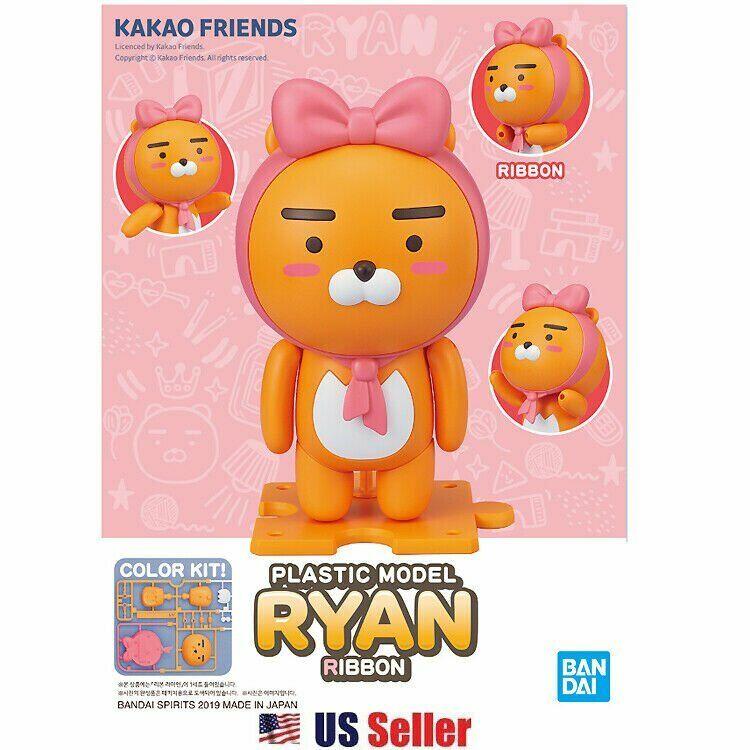 Kakao Friends x Bandai Plastic Model Standing Ryan Figure Ribbon Hoodie Heart