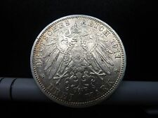 1911A  Wilhelm II Drei 3 Mark Silver Coin