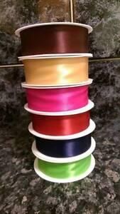 Ruban-satin-vendu-par-3-m-25-mm-LARGE-sieurs-coloris-cadeau-diy-scrapbooking