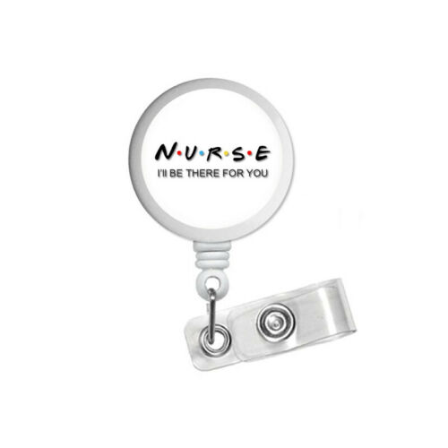 Nurse Friends ID Badge Reel Holder Clip Holder Retractable RT RN Quote