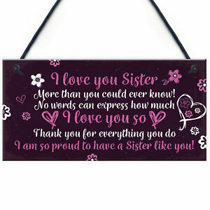 Birthday-Christmas-Gifts-For-Sister-Keepsake-Hanging-Plaque-Love-You-THANK-YOU
