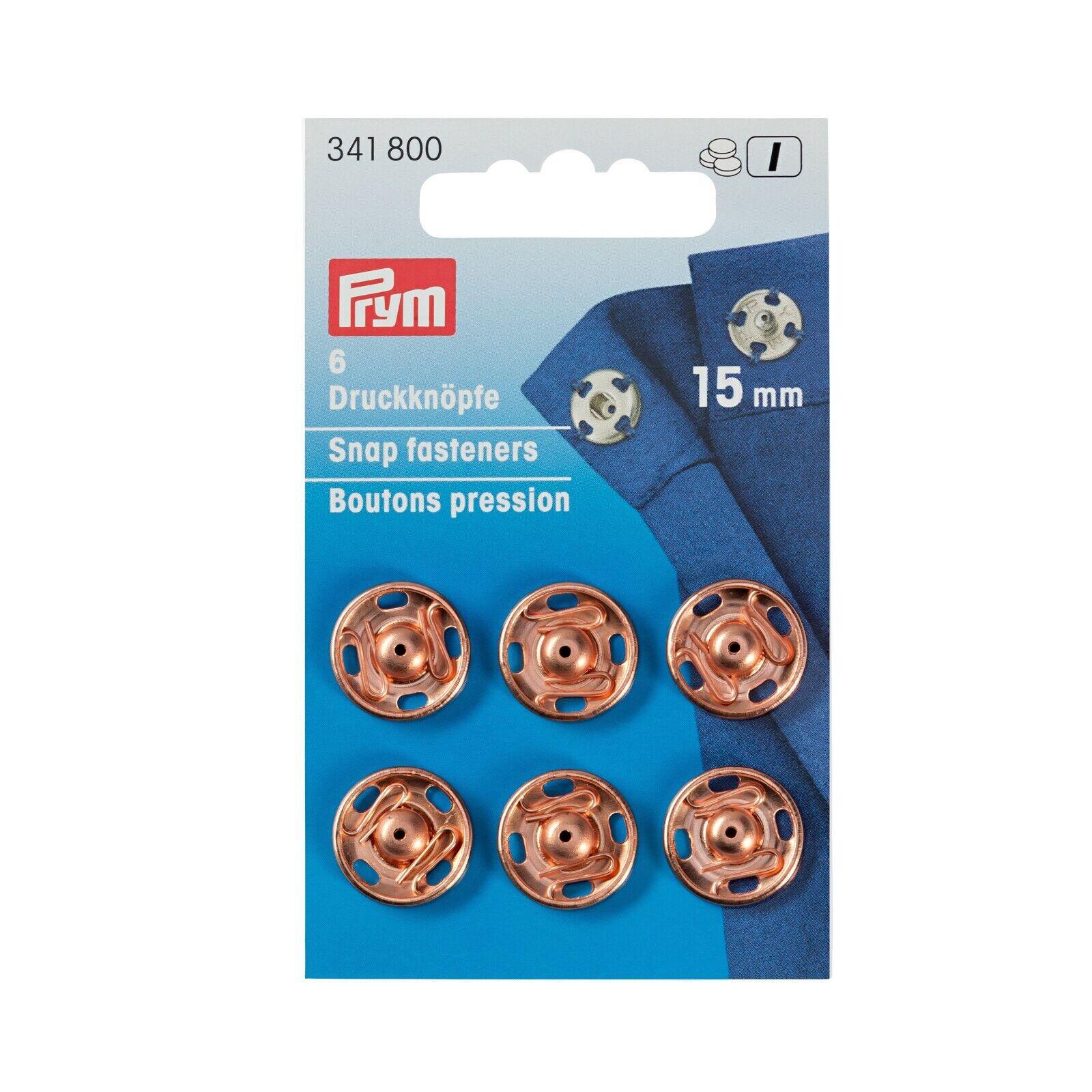 15mm roségold  341800 Prym Annäh-Druckknöpfe
