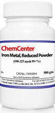 Iron Metal Powder 99 100 325 Mesh 500 Grams
