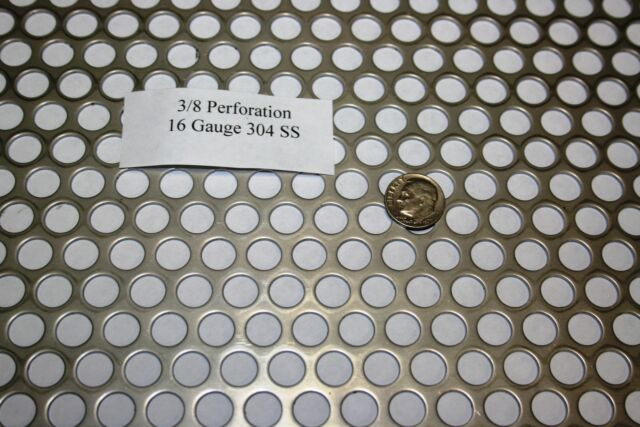 3//32 inch hole 20 gauge Perforated 304 Stainless Steel Price per 10 square inch