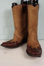 Vintage LEATHER Western COWBOY Rockabilly Biker Ranch Riding Country Boots UK 10