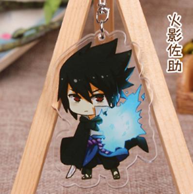 Hot Japan Anime Naruto Namikaze Minato Acrylic Key Ring Pendant Keychain Gift