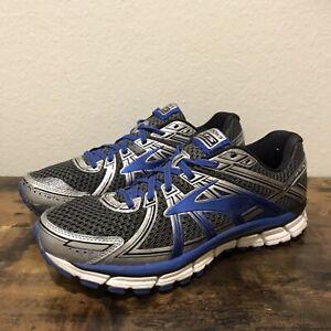 Brooks-Adrenaline-GTS-17-Men-039-s-Blue-Silver-Running-Shoes-Size-9-1102411D017