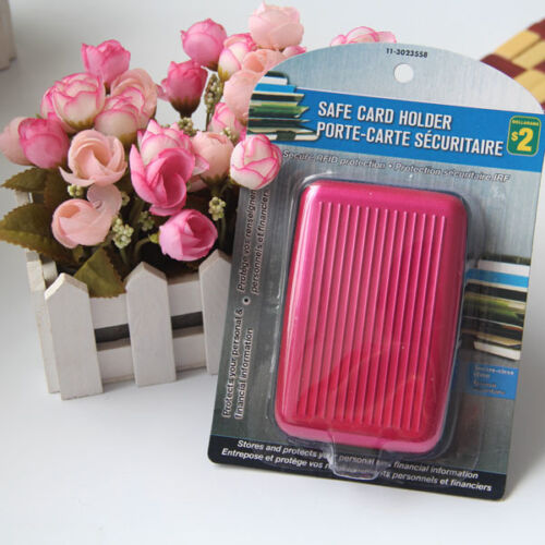 Men/'s Women Clutch Wallet ID Business Credit Card Holder Purse Mini Pocket Case
