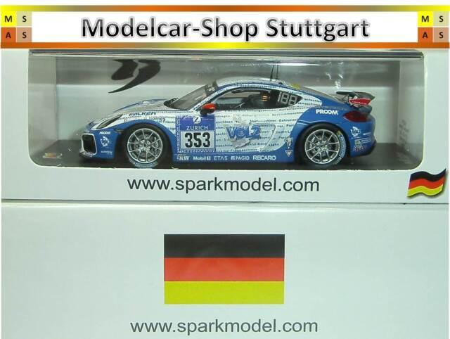 Porsche Cayman GT4 CS #353 - 24h Nürburgring 2016 - Spark 1:43 - Ltd.Edition 300