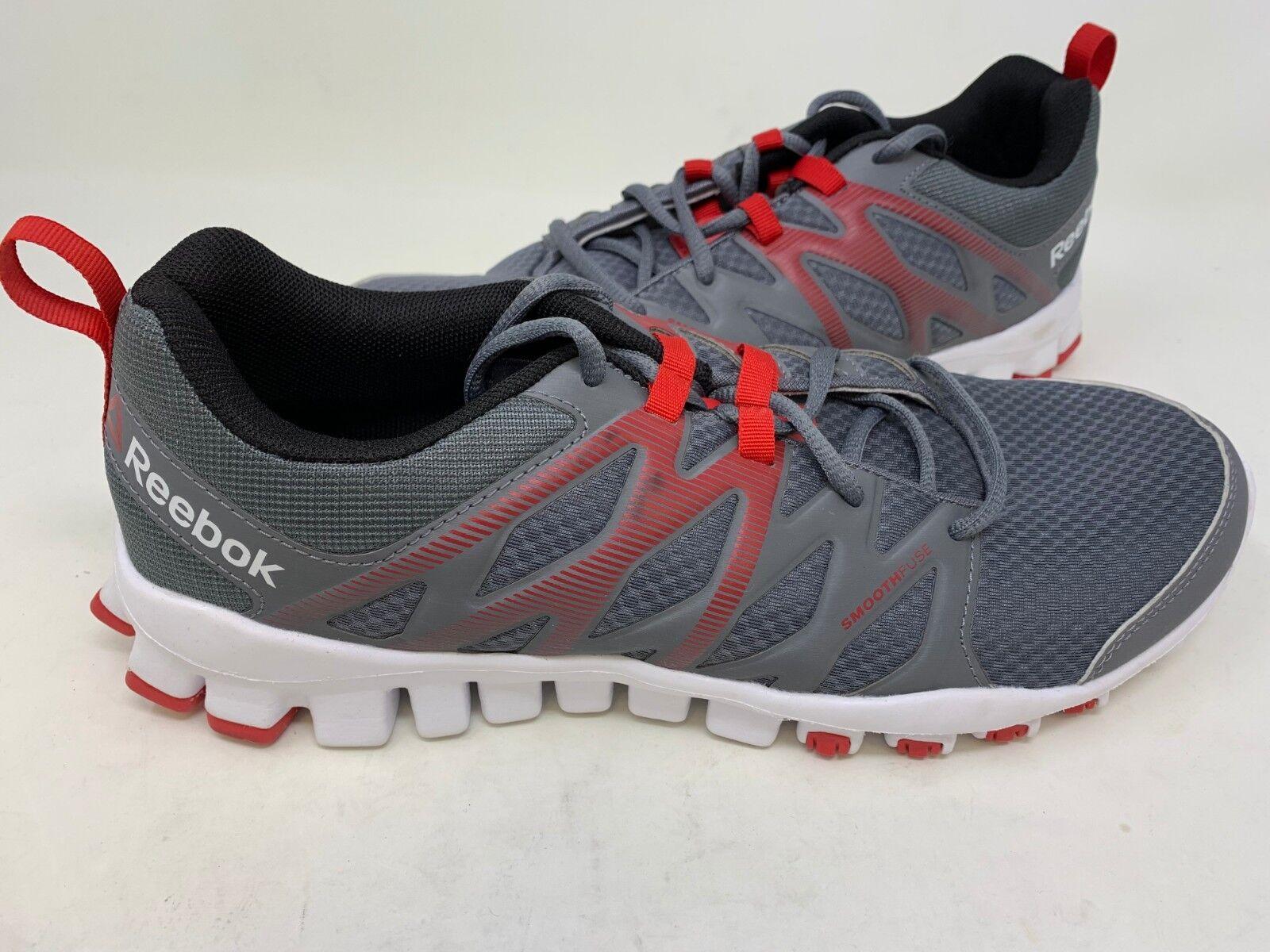 NEW  Reebok Men's Realflex Training 4.0 shoes Grey Red  AR3572 140R tz