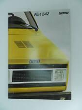 FIAT 242 auto automobile car vecchia brochure old poster