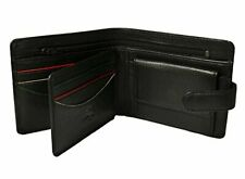 Visconti Sawgrass AG17 Mens Classic Bi-fold ID Wallet Coin Pouch Black Augusta