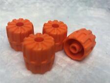 22mm D. x 24mm x24 NEW Lego Space Wheels Orange Wheel Hard Plastic Small